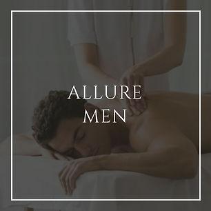 allures men, mens treatments massage, facials and more