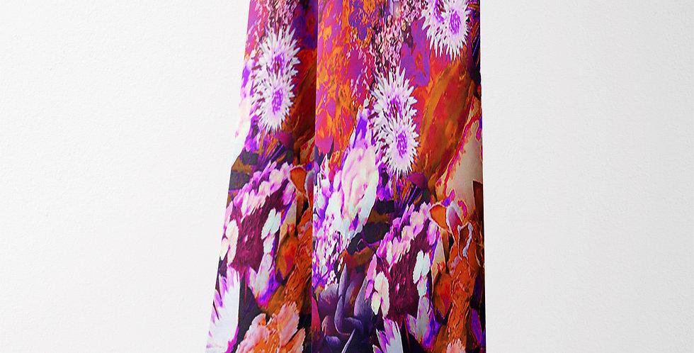 Flower Orange Modal/Cashmere Rectangle Scarf