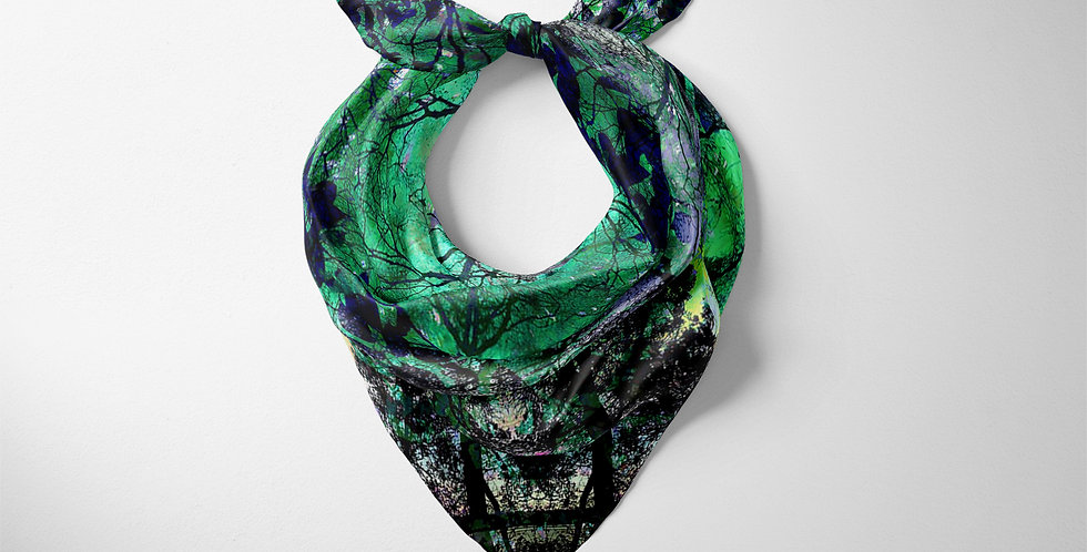 Glass Forrest Green Classic Square Scarf