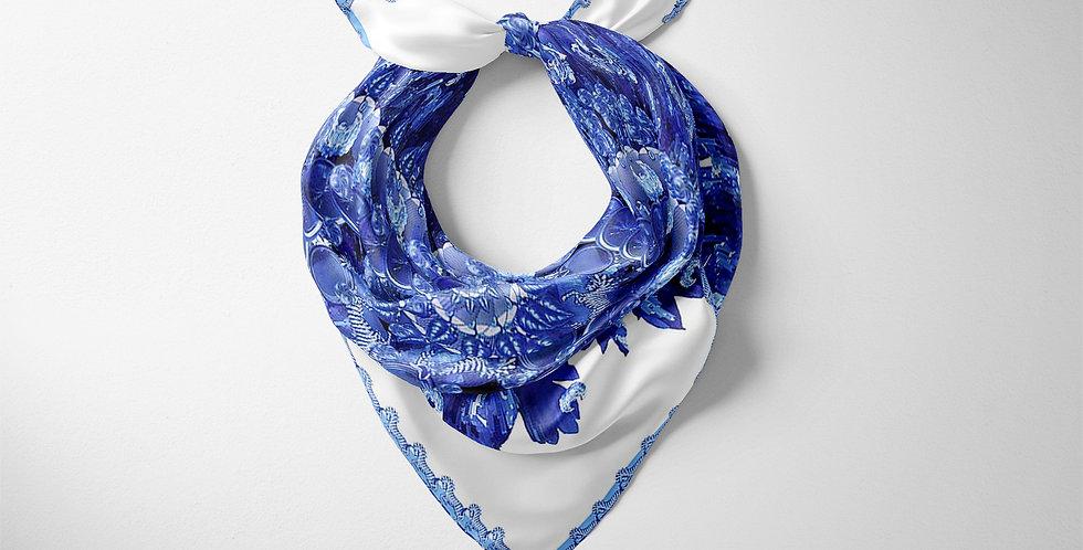 Hidden Tropics Blue classic square scarf