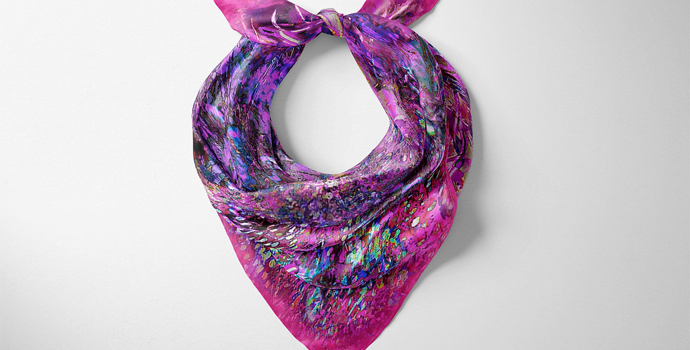 Emperors Feathers Pink Scarf