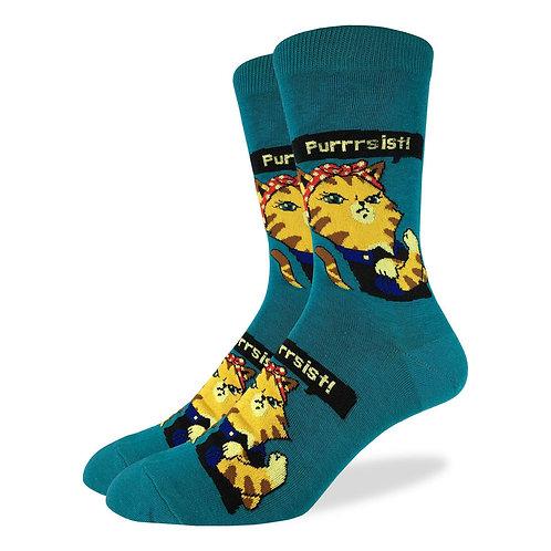 Ladies Purrsist Cat Socks 5-9