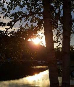 Coucher de soleil à partir du chalet