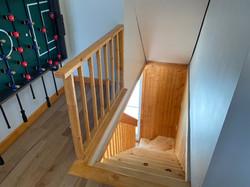 Escalier avec vue de l'étage