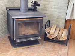 Foyer au bois avec mode combustion lente