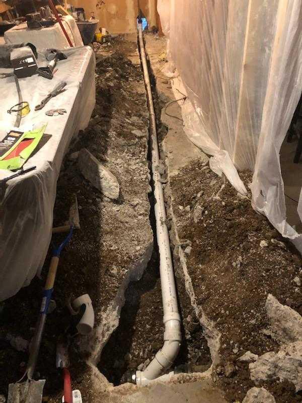 Replacing Damaged Pipe
