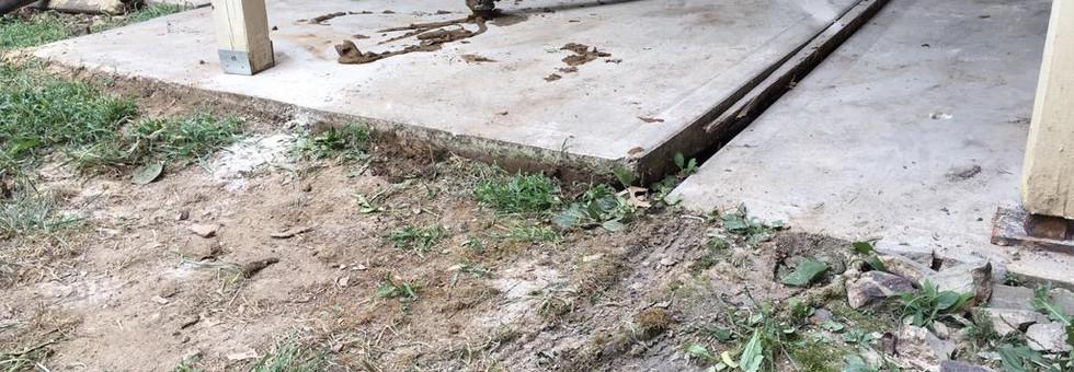 Uneven Concrete Slab