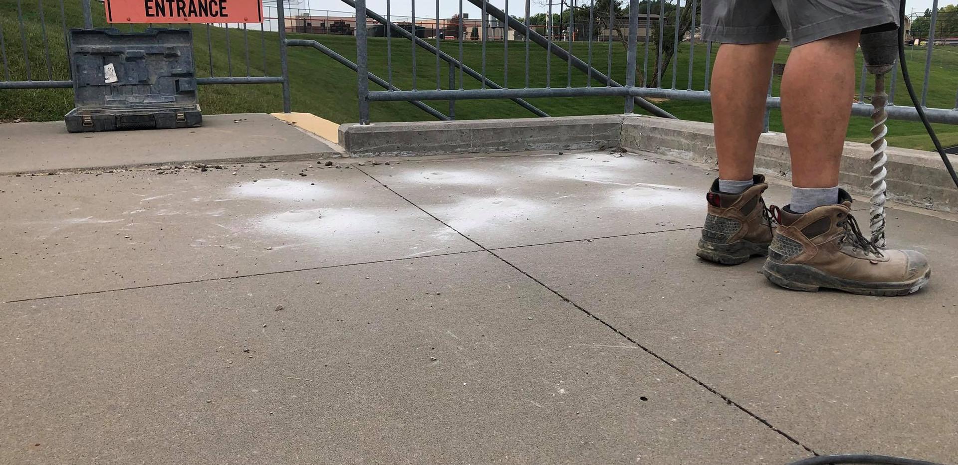 Drilling A Concrete Slab