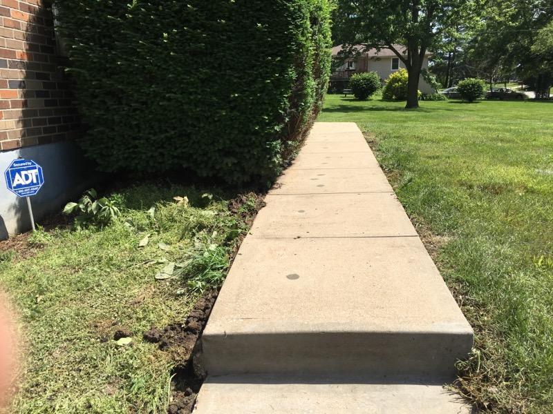Leveled Sidewalk and Stairs