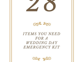 28 Items You Need For A Wedding Day Emergency Kit