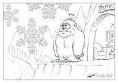 Betty th Yeti's Disappointing Day Colouring in Sheet