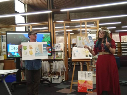 Aunty Em and Graham Davidson at The Maitland Regional Library