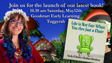 "Come to the launch of our new book- ""Life Is Not Fair When You Are Just a Chair"""