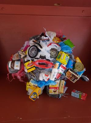 Garbage Guts Sculpture