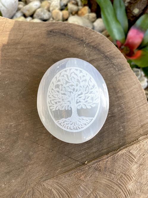 Árvore da Vida de Selenita - formato de sabonete