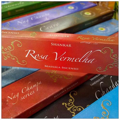 Incenso Indiano Massala Shankar - Rosa Vermelha