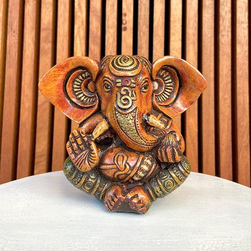 Estatueta Ganesh / Ganesha em Resina - Colorido