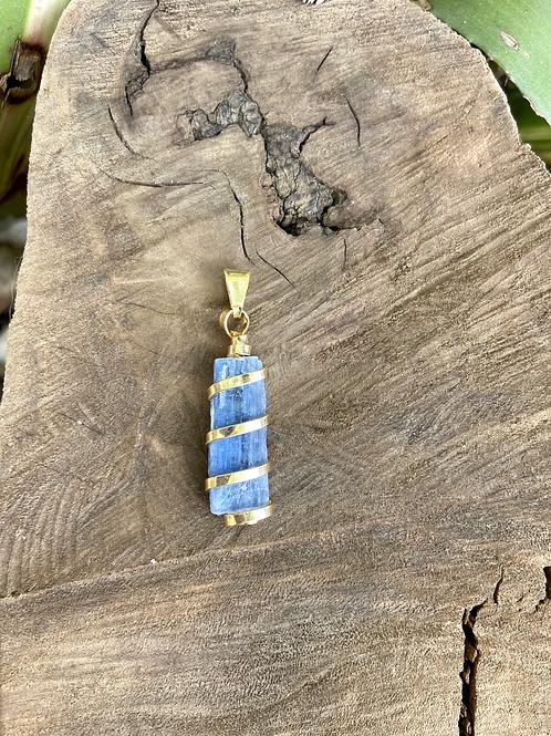 Pingente de Cianita Azul Dourado (peça única)