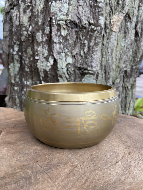 Tigela Tibetana/Orin Dourada M