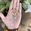 Thumbnail: Pingente de Cristal Anjo da Guarda Dourado (peça única)