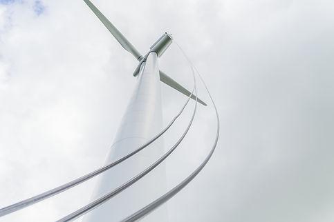 Oil change on a wind turbine in Germany.