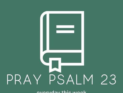 Daily Devotion: Pray Psalm 23