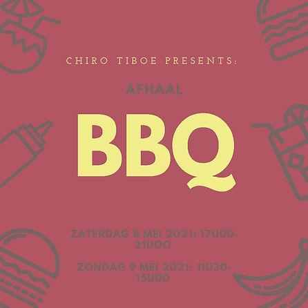 Rood-Pictogrammen-BBQ-feest-Uitnodiging-