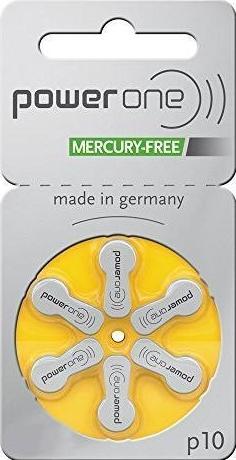 PowerOne 675 Hearing Aid Batteries (x10 packs - 6 Cells per pack)