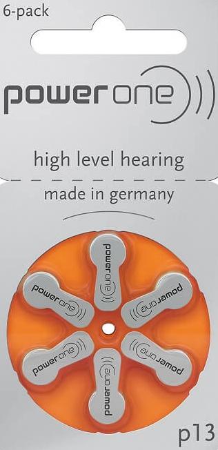 PowerOne 313 Hearing Aid Batteries (10 packs - 6 Cells per pack)