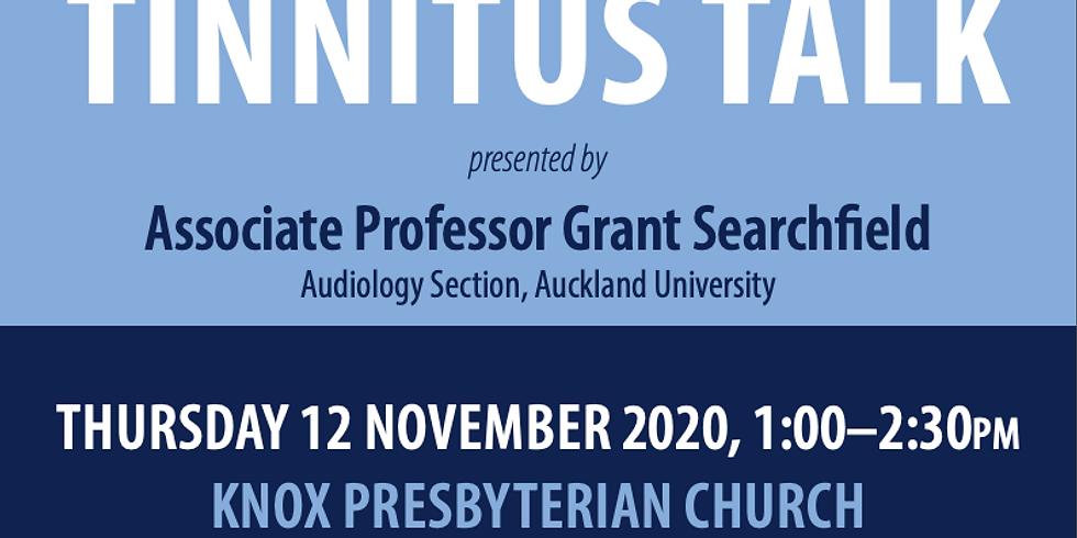 Tinnitus Talk presented by Associate Professor Grant Searchfield