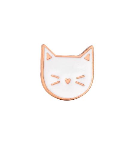 White Cat Pin