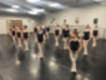 Ballet 2 dancers at Littleton Ballet Academy