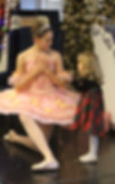 Alyssa and friend at Littleton Ballet Academy