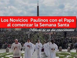 Los Novicios con el Papa al comenzar la Semana Santa