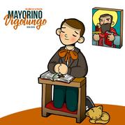Mayorino rezando