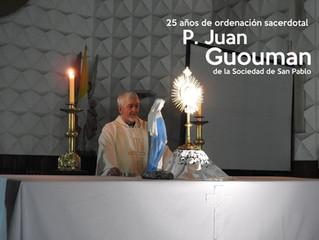 25 años de ordenación del P. Juan Guouman