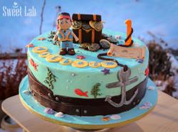 Jack og Pirate kage