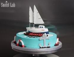 sejlbåd kage