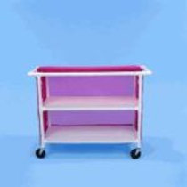 PVC Linen Carts with 48″ Shelves