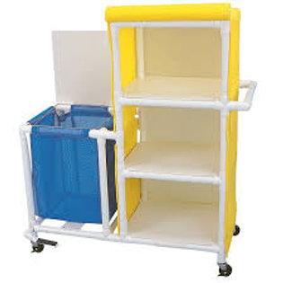 PVC Combination Linen Hamper & Linen Cart