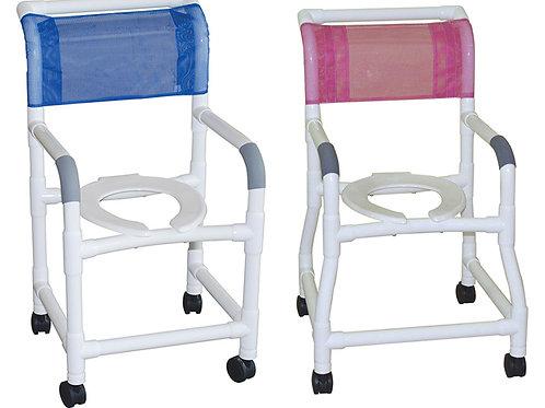 Basic PVC Shower Commode Chair