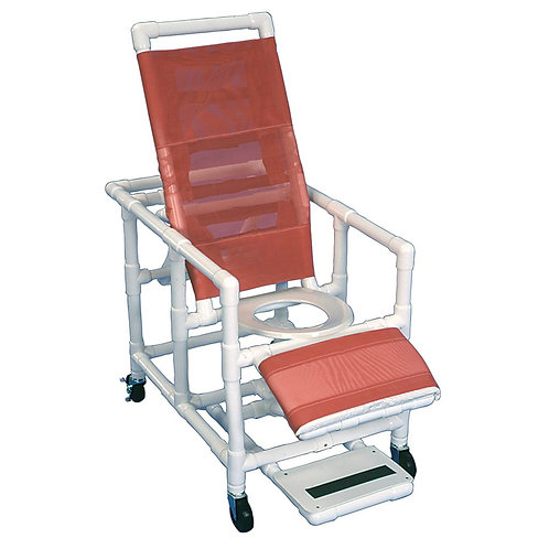 Reclining PVC Shower Commode Chairs