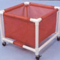 PVC Laundry Cart On Wheels