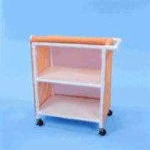 PVC Linen Carts with 32″ Shelves
