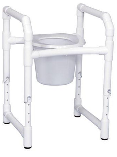 PVC Commode Safety Frame