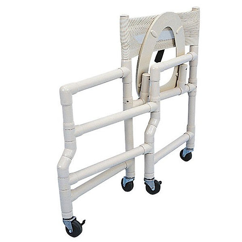 Folding PVC Shower Commode Chair