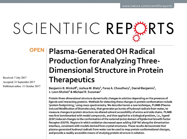 Plasma-Generated OH Radical Production for Analyzing Three-Dimensional Structure in Protein Therapeutics