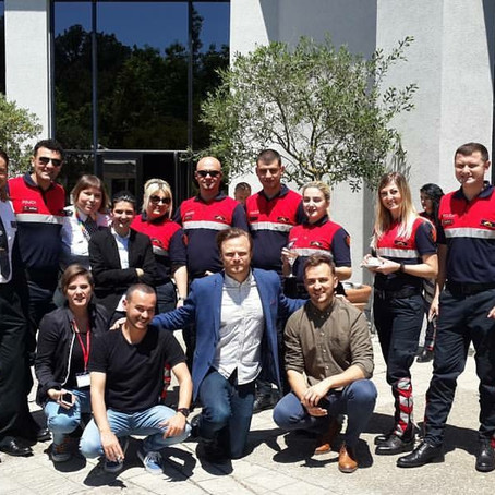 European LGBT Police members working with Stonewall in Albania