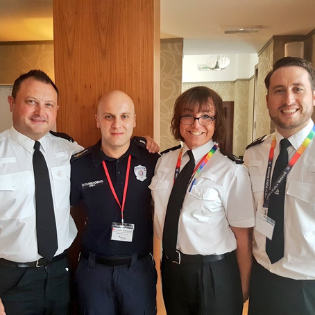 European LGBT Police members working with Stonewall in Serbia