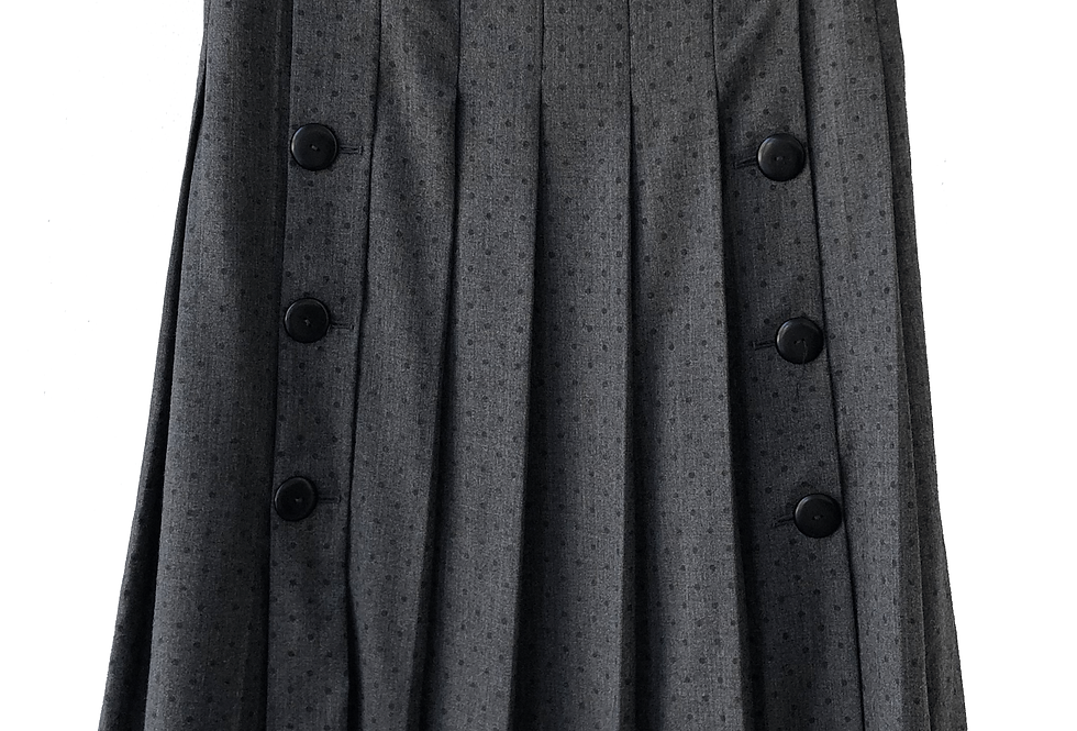 Lanvin Paris Wool Skirt With Polka Dot Pattern